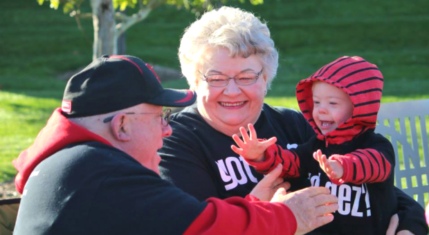 Grandparents showing love at Omaha Buddy Walk