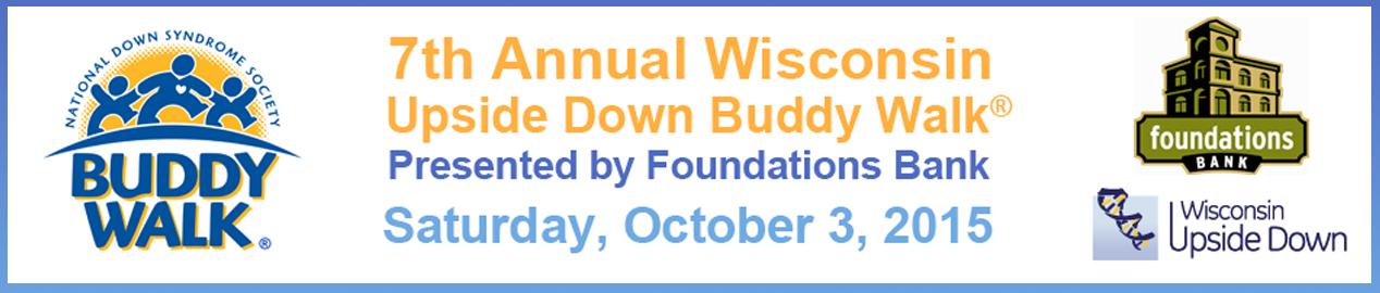 Wisconsin Updside Down Buddy Walk Banner 2015