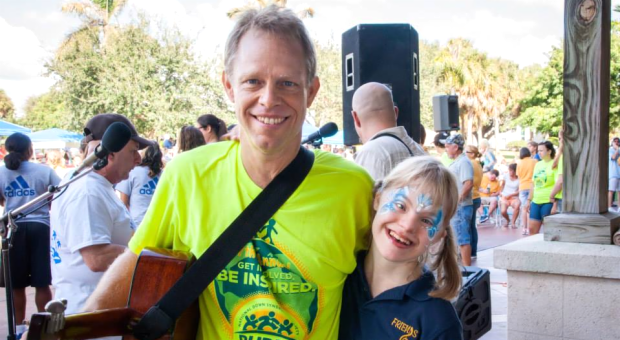 Playing Music at the Treasure Coast Buddy Walk_1