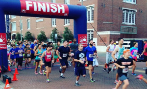 DSACO 5k runners cross the finish line
