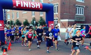 DSACO 5k runners cross the finish line