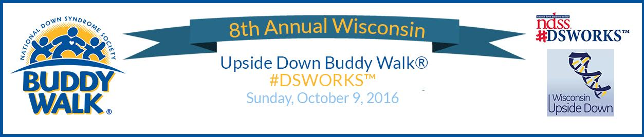 Wisconsin Updside Down Buddy Walk Banner 2015