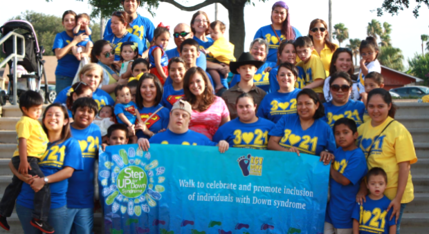 Friends gather for the Rio grande Valley step up for Down Syndrome Walk