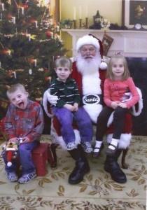 Kearns Family Smiles with Santa