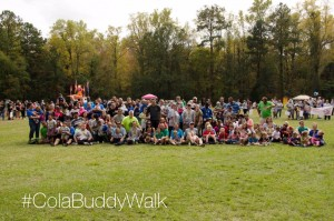 Walkers gather for a group picture
