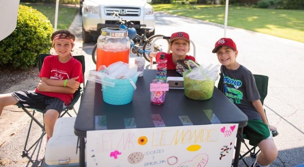 Team Ruby sells lemonade for walk fundraiser