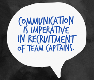 Communication is key in team recruitment