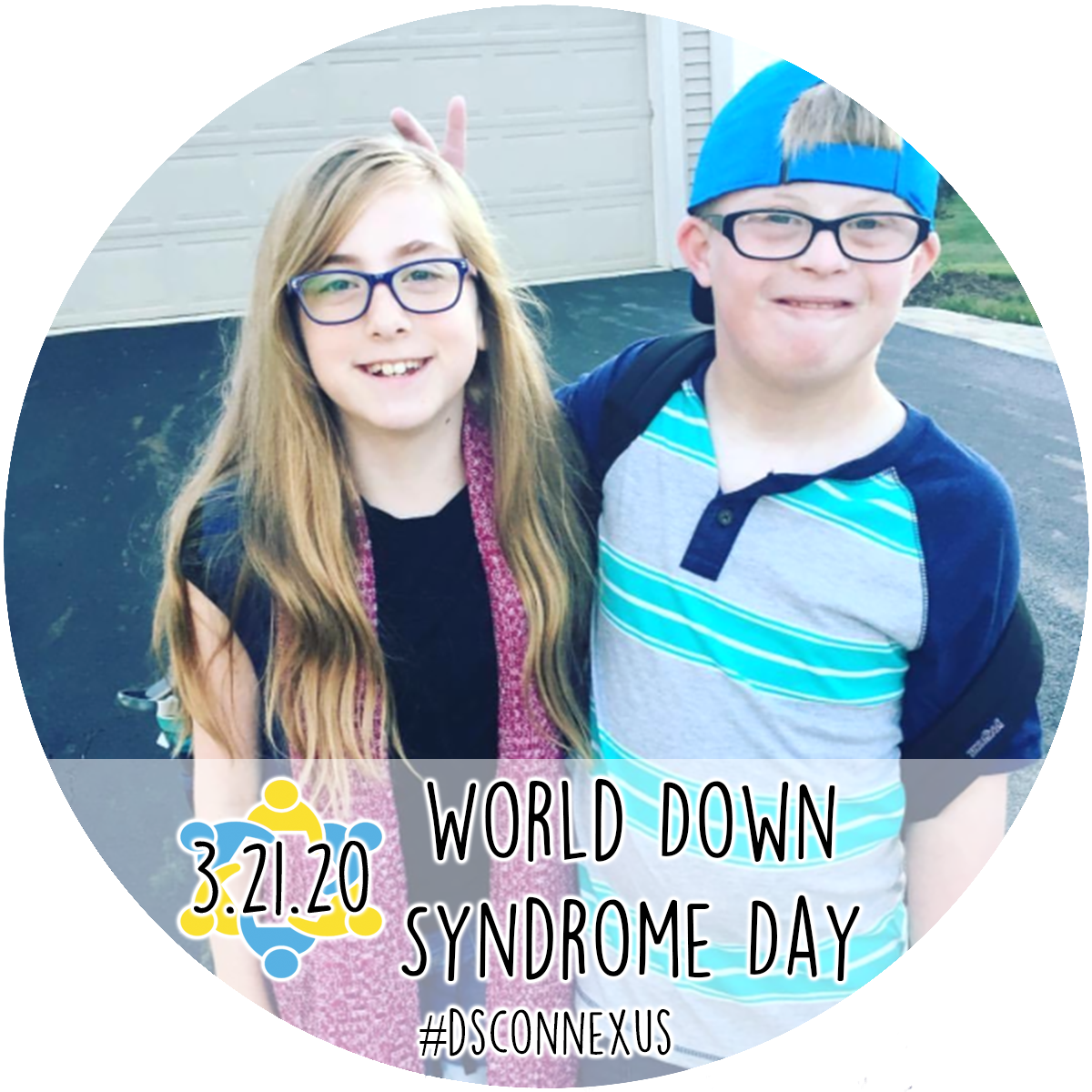 dsconnex Facebook frame for World Down Syndrome Day
