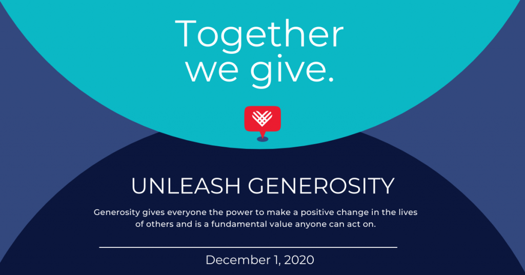 social media graphic from the Giving Tuesday website. Graphic to be used in assist in fundraising
